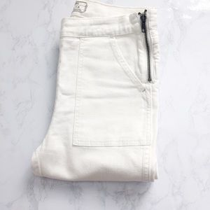 Free People White High Waisted Jeans Size 26